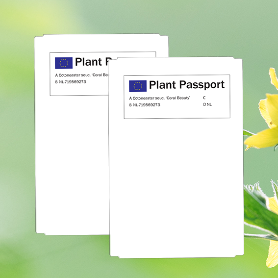 Plantenpaspoort labels